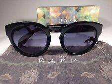 $125 New Authentic RAEN Round Keyhole Strada Sunglasses Black Smoke Gray Lens 52