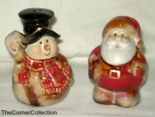 SANTA & SNOWMAN CHRISTMAS SALT & PEPPER SET