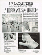 PUBLICITE ADVERTISING 054  1989  J.F LAZARTIGUE  LA PERFORMANCE SANS FRONTIERES