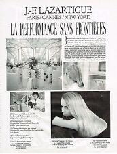 PUBLICITE ADVERTISING 054  1989  J.F LAZARTIGUE  LA PERFORMANCE SANS FRONTIERES