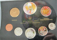 2005 Canada Commemorative 9999 Silver Dollar 8 Coin Set Proof Flag Gilded