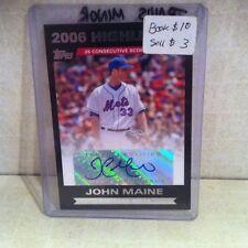 2007 Topps John Maine Auto Signed Card