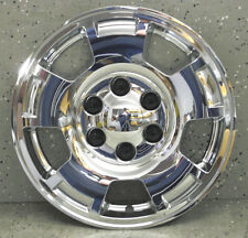 """CHEVY SUBURBAN 17"""" CHROME WHEEL SKINS LINERS HUBCAPS (1 PIECE) 347-17 HUBCAP"""