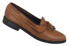 ALLEN EDMONDS WINDHAM Men's 8.5 B Tan Leather Tassel Loafers Dress Shoes USA