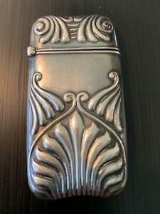 Amazing Gorham Sterling Silver Match Case c1870 No Monogram
