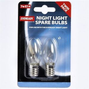 EVEREADY NIGHT BULB 7W E14, PACK OF 2