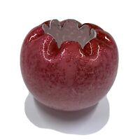 Vintage Pink Opalescent Art Glass Victorian Rose Bowl with Metallic Specks
