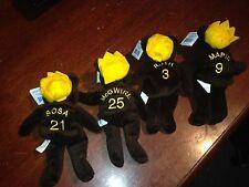 Set of 4 Salvino's Home Run Kings Plush Bears; Maris, McGwire, Sosa & Ruth