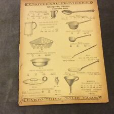 Antique Catalogue Page - Basins, Pails, Jugs, Utensils