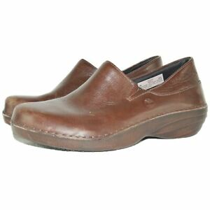 Timberland Pro Renova Womens Loafer Work Shoes Size 6 Nursing Brown Leather $120