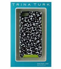 Trina Turk Dual Layer Protective Case Cover iPhone 5C - Black / White / Green