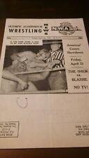 nice 1969 NWA wrestling program WWWF vintage LA Sheik Farhat Blassie Mascaras