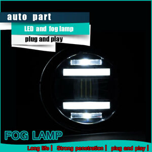 2007-2018 For TOYOTA YARIS FOG LIGHTS LED DRL RUNNING LAMPS DRIVING BUMPER LAMPS