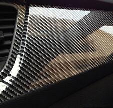 "Car Stickers Carbon Fiber Vinyl 12""x60"" 5D Ultra Shiny Gloss Glossy Wrap Black"