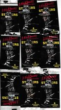 A NIGHTMARE ON ELM STREET 9 UNOPENED SEALED PACKS OF STICKERS 1984 VINTAGE