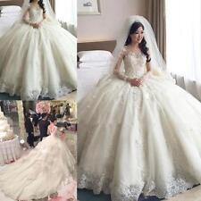 Neu A-Linie Spitze Brautkleider Hochzeitskleid Ballkleid Gr:34 36 38 40 42 44+++