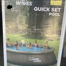 summer waves 16 x 42In Quick Set Pool With Filter, Pump, Ladder, Price Negotiabl