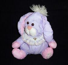 VTG 1986 Fisher Price Puffalumps Purple Baby Bunny Plush Stuffed 8008 Easter
