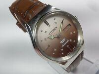 Vintage Citizen Mechanical Automatic Movement Day Date Dial Mens Wrist Watch U5