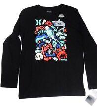Hurley Boy's L Skeleton Submarine Shark Graphic Cotton T-Shirt Glow in the Dark
