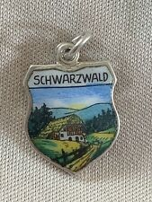 SCHWARZWALD Silver Travel Shield Enamel Charm