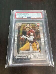 Robert Griffin III PANINI PRIZM ROOKIE CARD WHITE SLEEVE PSA 9 NFL 2012 T11-147