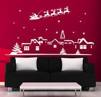 CHRISTMAS WALL STICKERS xmas decoration CHRISTMAS SANTA WINDOW STICKERS N103