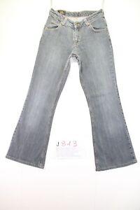 Lee Felton Bootcut (Cod. J813) Tg42 W28 L33 jeans usato ACCORCIATO zampa Nero