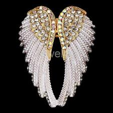 Angel Wings Stretch Ring Crystal Rhinestone Fashion Bling Jewelry Gift White