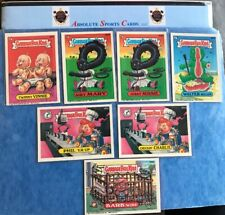 1987 Topps Garbage Pail Kids 7 Card Lot   Phil 'Er Up Hissy Missy Walter Melon