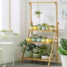 3 Tier Flower Plant Pot Shelf Stand Display Garden Step Style Ladder Rack Wooden
