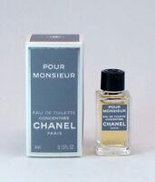 CHANEL POUR MONSIEUR  0.13 fl oz 4 ml Splash Concentree Miniature perfume France