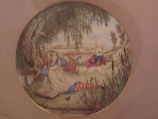 ALICE AND THE WHITE RABBIT collector plate ALICE IN WONDERLAND Sandy Nightingale