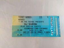 DJ Shadow Edinburgh 2002 Ticket