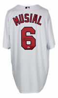 Stan Musial Signed St. Louis Cardinals Majestic Baseball Jersey BAS