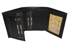 BLACK FRIDAY SPECIAL - Men's Trifold wallet holds 7 credit card Genuine Leather
