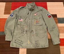 Polo Ralph Lauren Mens M65 US Flag Military Patch Army Graphic Field Jacket $598