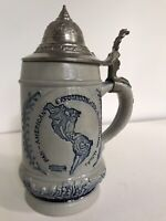White's Of Utica Pan American Expo 1901 Lidded Stein