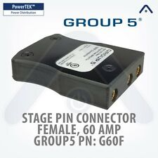 MARINCO Group 5, G60F, Stage Pin Connector, Female, 60 Amp, 125V, Inlet - Black