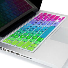 "New Silicone Rainbow Keyboard Skin Cover For Apple Macbook Air Mac 13""15""17"" US"