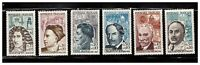 s23353) FRANCE MNH** 1962 Famous persons 6v