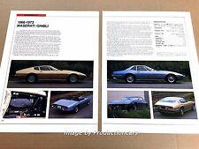 Maserati Ghibli Original Car Review Print Article J670 1969 1970 1971 1972 1973