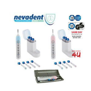 Nevadent Professional Care RECHARGEABLE Electric Toothbrush + 8 Brush Heads