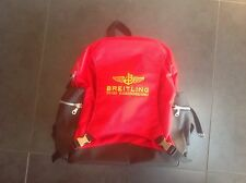Breitling Luxury Backpack Bag Red Black  Brand New !