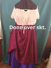 """Overskirt, Mid Calf, Medieval Renaissance LARP SCA sz 12-28, waist 36""""-52"""" L32"""""""