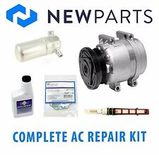 Pontiac Firebird 98-02 V8 5.7 Complete A/C Repair Kit New Compressor with Clutch