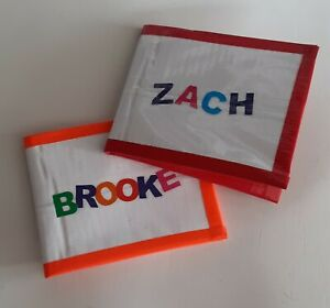 Handmade Custom Name Duct Tape Wallet - Personalized - You Pick the Border Color