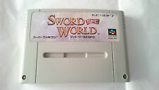 SWORD WORLD SUPER FAMICOM JAPONÉS NINTENDO JAP.NTSC-J.SNES.SFC