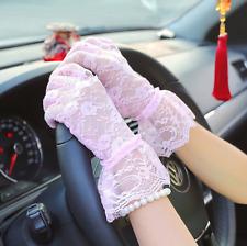 Gants courts rose pâle en dentelle poignets rétro pinup glamour sexy romantique