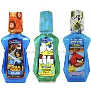 3 x Children Mouthwash Fruit Berry /Bubble Gum Kids Sugar & Alcohol Free 237ml